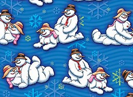 Snow Men Presentpapper